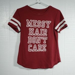 Tops - Messy Hair Graphic Tee E17